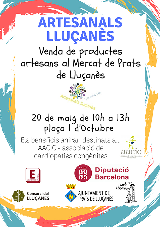 Parada solidaria al Mercat Municipal de Prats de Lluçanès por las cardiopatías congénitas