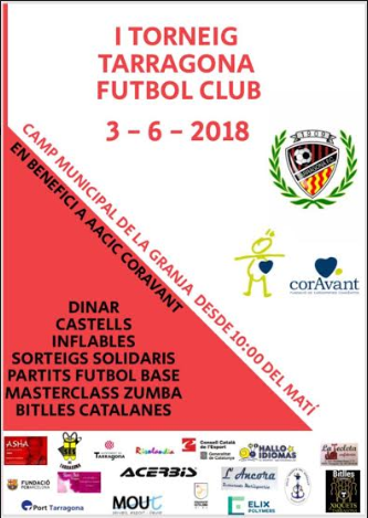 Cartell Torneig Tarragona Futbol Club en benefici a les cardiopaties congènites