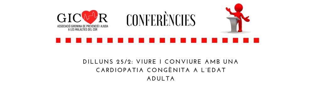 Conferència tertulia Viure i conviure amb una cardiopatia congènita a l'edat adulta