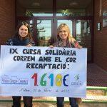 """Recollim els fruits de la cursa solidària """"Correm amb el cor"""" de l'Escola Maria Garcia i Cabanes de l'Aldea"""
