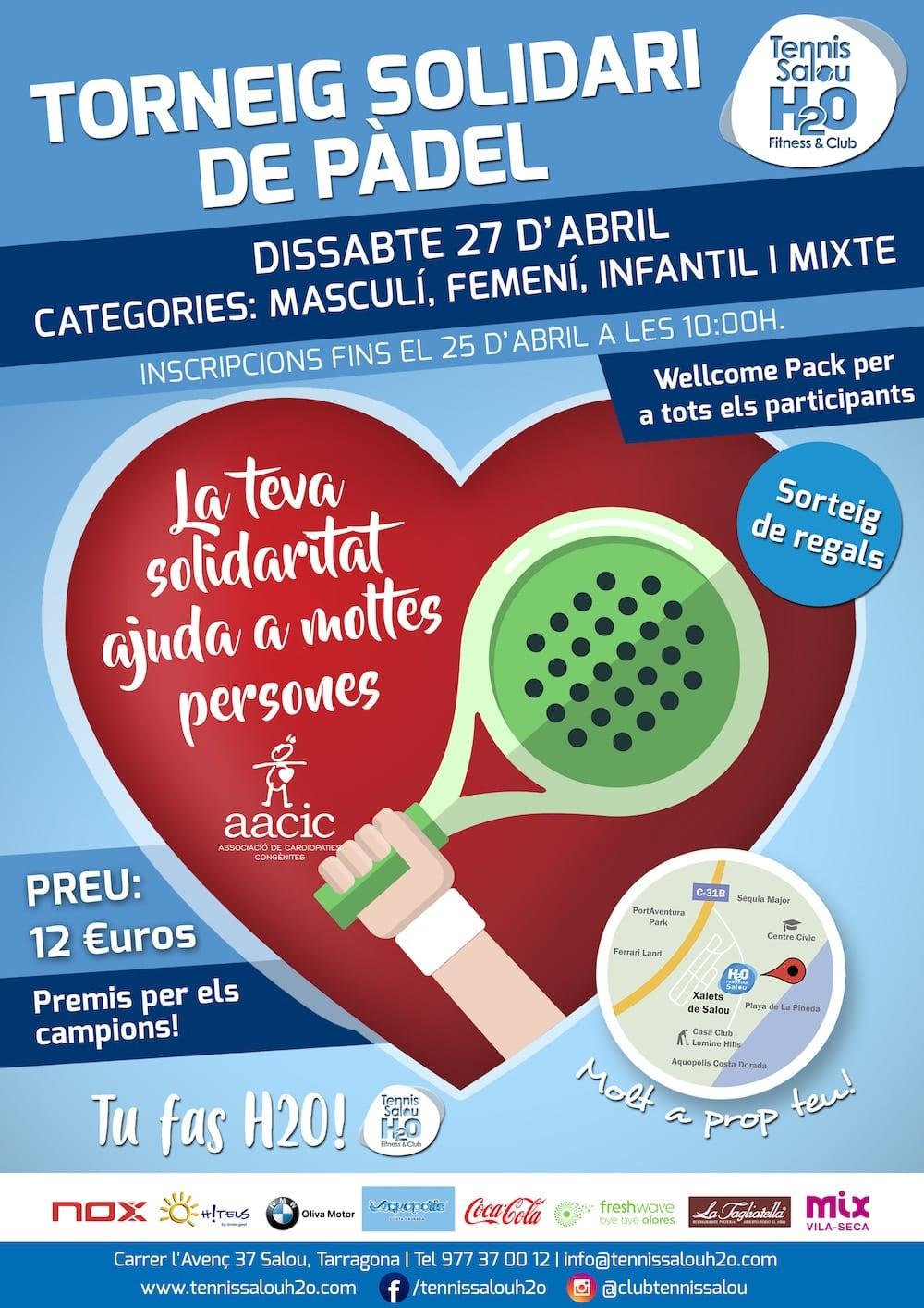 Torneo padel solidario Tennis Salou H2O