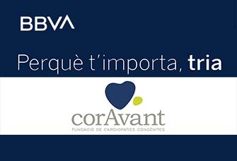 Si tens la Targeta Solidària BBVA, vota la Fundació CorAvant