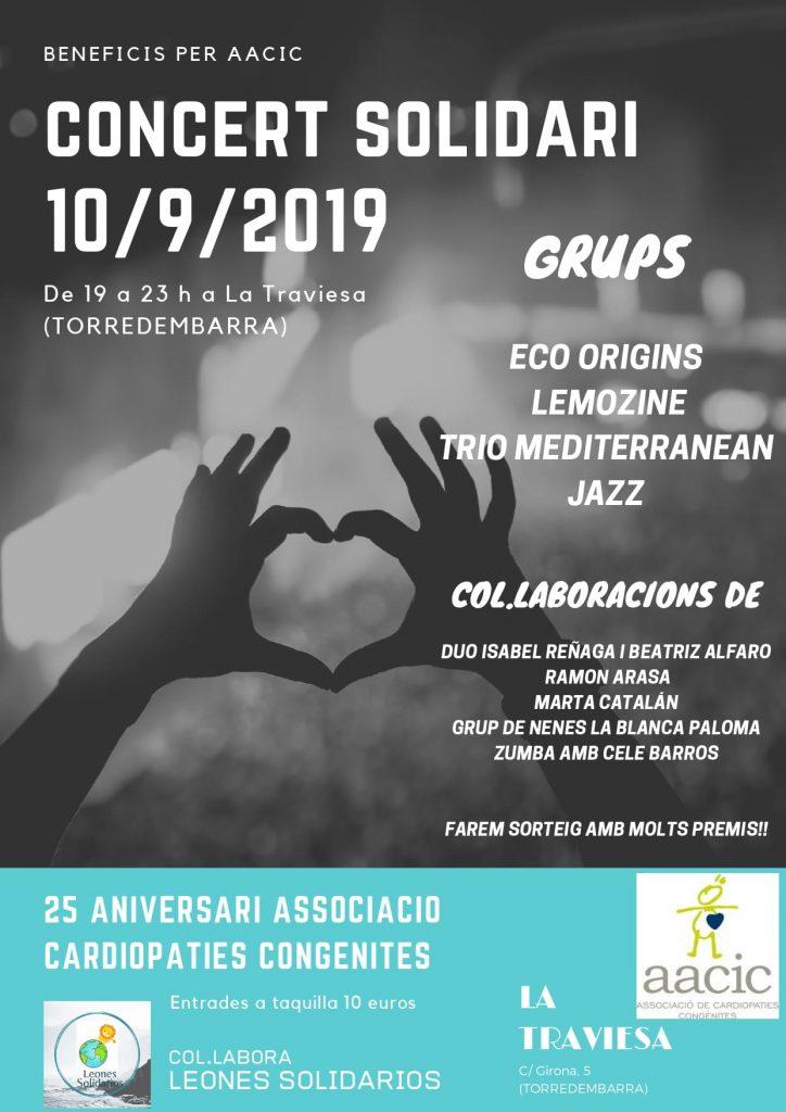 Concierto solidario AACIC en La Traviesa de Torredembarra