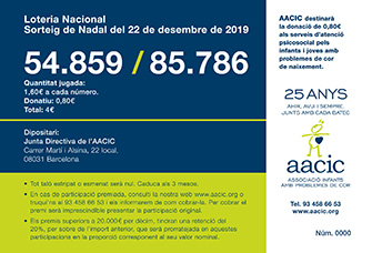 LOTERIA NADAL 2019 AACIC