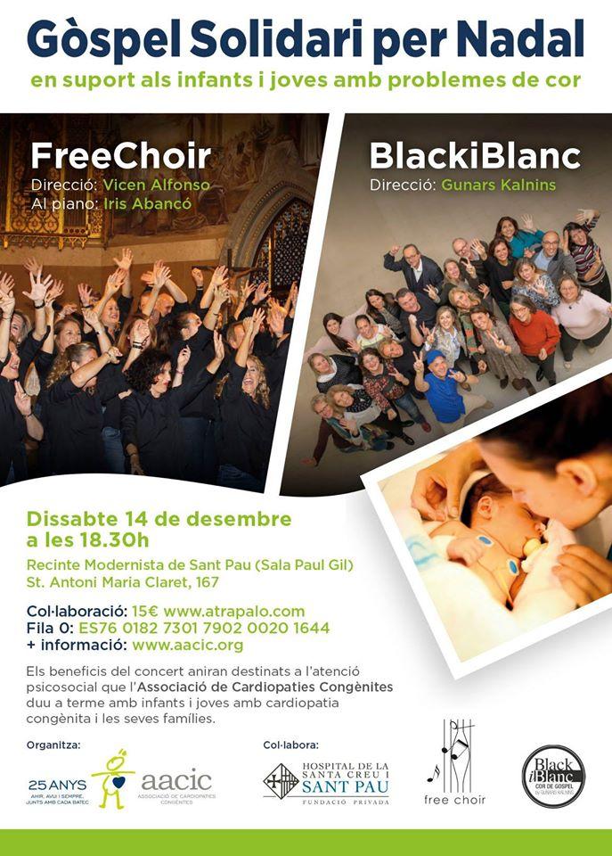 Góspel Solidario en Navidad en apoyo a los niños, niñas y jóvenes con problemas de corazón en Barcelona