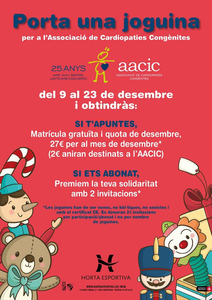 Porta una joguina per l'AACIC a Horta Esportiva