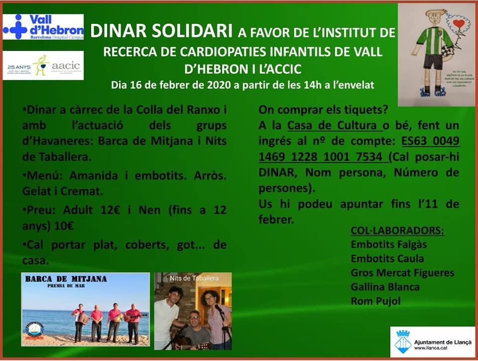 Menú Dinar solidari Arrítmia de la pilota