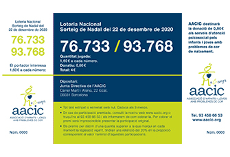 loteria navidad aacic 2020