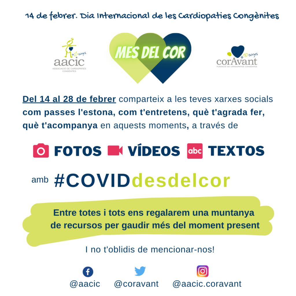 Campanya #COVIDdesdelcor, Dia Internacional de les Cardiopaties Congènites