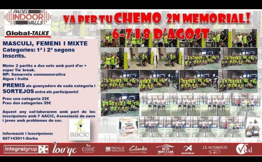Torneo solidario Padel Indoor Valls