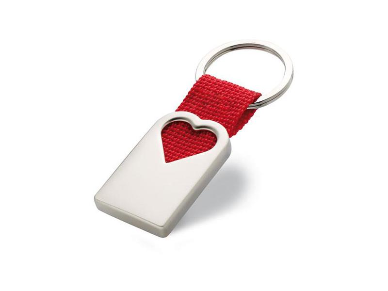 clauer cor amb cinta vermella